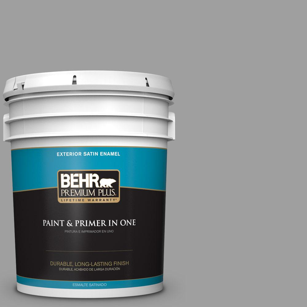 5 gal. #PPU26-06 Elemental Gray Satin Enamel Exterior Paint