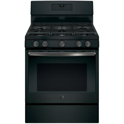 30 in. 5.0 cu. ft. Gas Range with Self-Cleaning Oven in Black Slate, Fingerprint Resistant