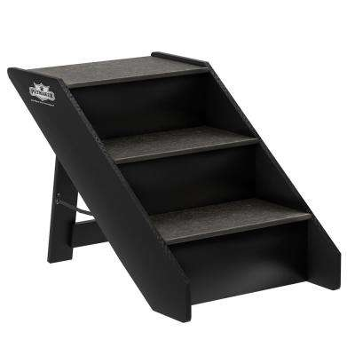 Brown 3-Step Folding Pet Stairs
