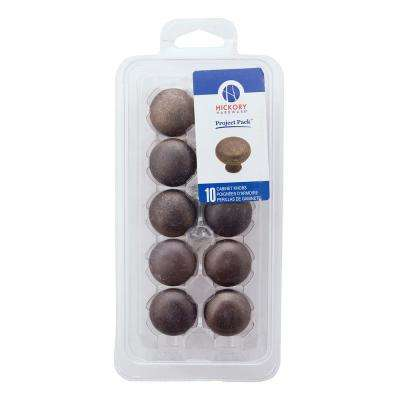 Project-Pack Collection 1-1/4 in. Windover Antique Finish Cabinet Knob (10-Pack)