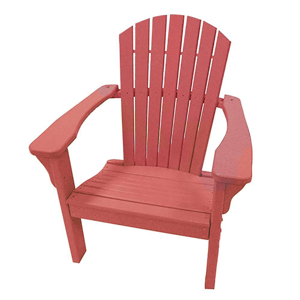 Cardinal Red Plastic Adirondack Chair