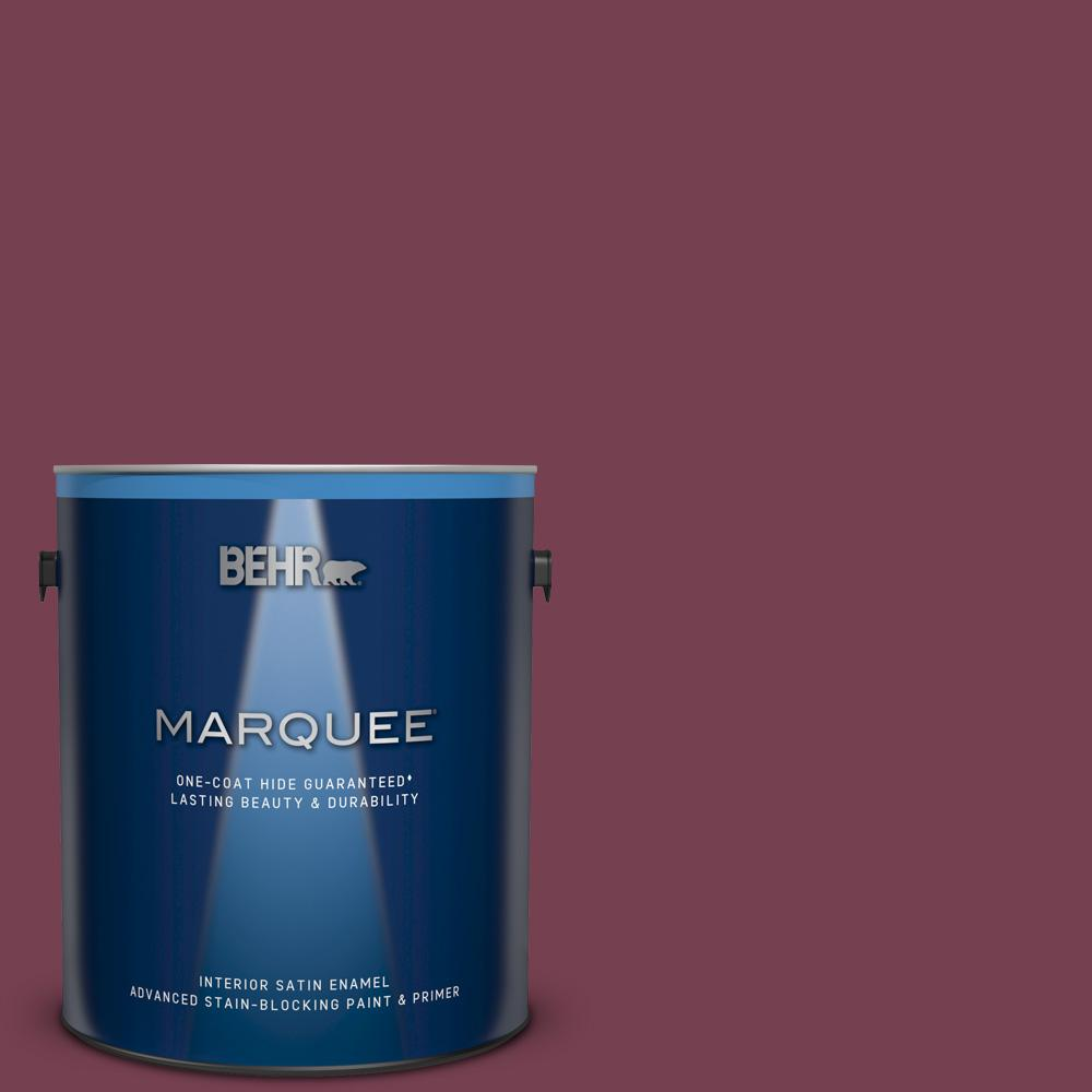 1 gal. #ECC-24-3 Autumn Hills Satin Enamel Interior Paint and Primer