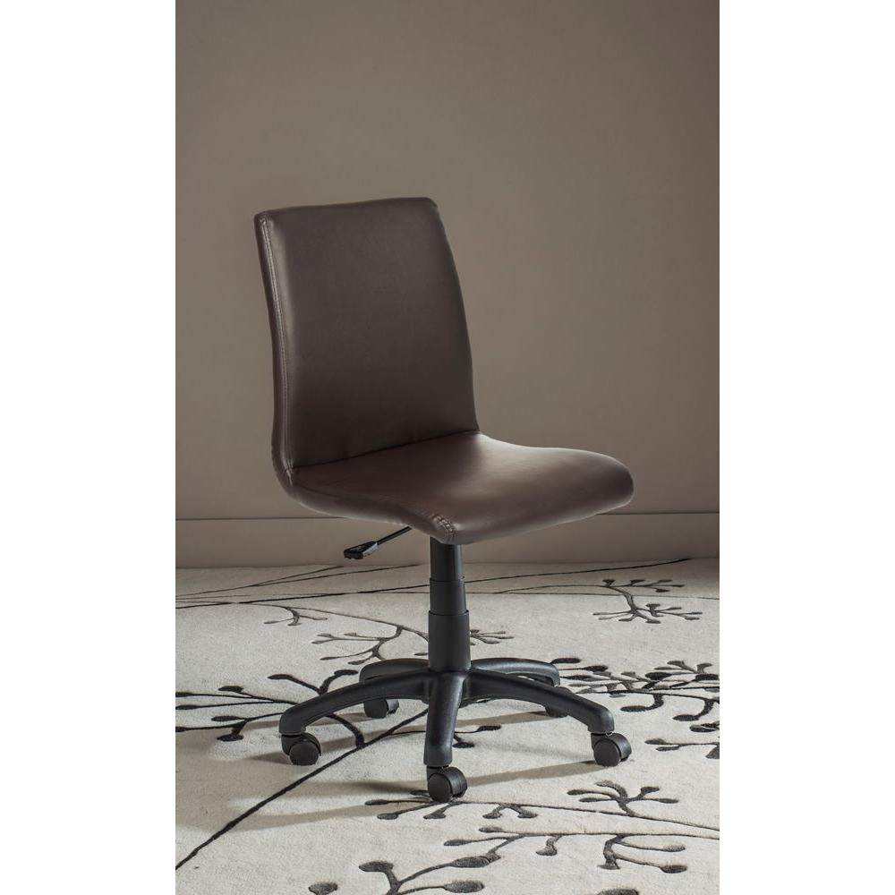 Safavieh Hal Brown Faux Leather Office Chair