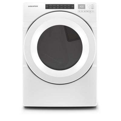 7.4 cu. ft. White Electric Dryer with Sensor