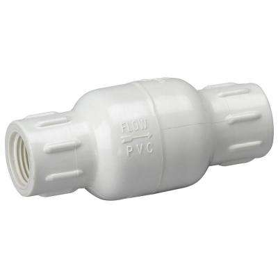1/2 in. PVC Sch. 40 FPT x FPT IPS In-Line Check Valve