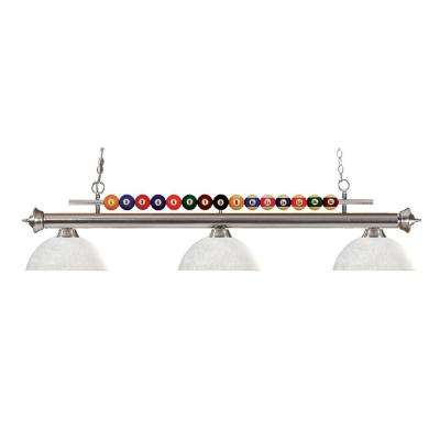 Superior Kerstin 3 Light Brushed Nickel Billiard Light