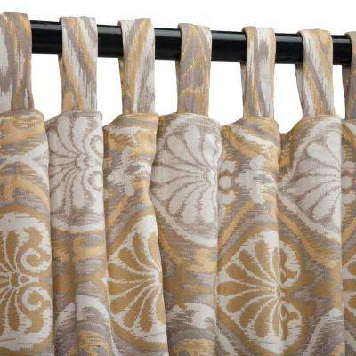 50 in. x 108 in. Outdoor Single Curtain with Tabs in Honey