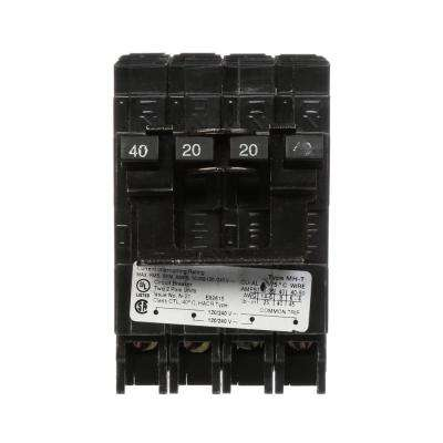40/20 Amp Double-Pole Type MP-T Quad Plug-In Circuit Breaker