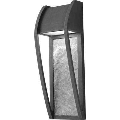 Newport 1-Light Bronze Integrated LED Outdoor Wall Mount Sconce