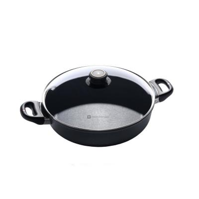 Classic Series Induction 3.7 qt. Cast Aluminum Nonstick Saute Pan in Gray with Glass Lid