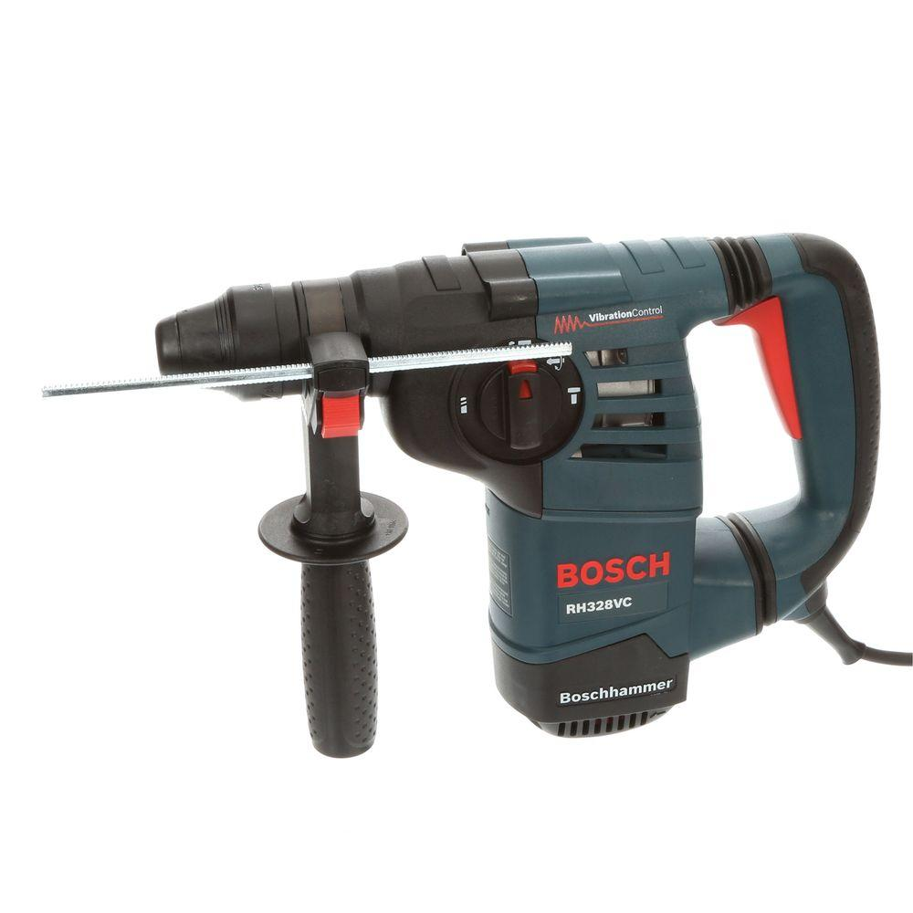 bosch 8 amp corded 1 1 8 in sds plus variable speed rotary hammer drill with auxiliary handle. Black Bedroom Furniture Sets. Home Design Ideas