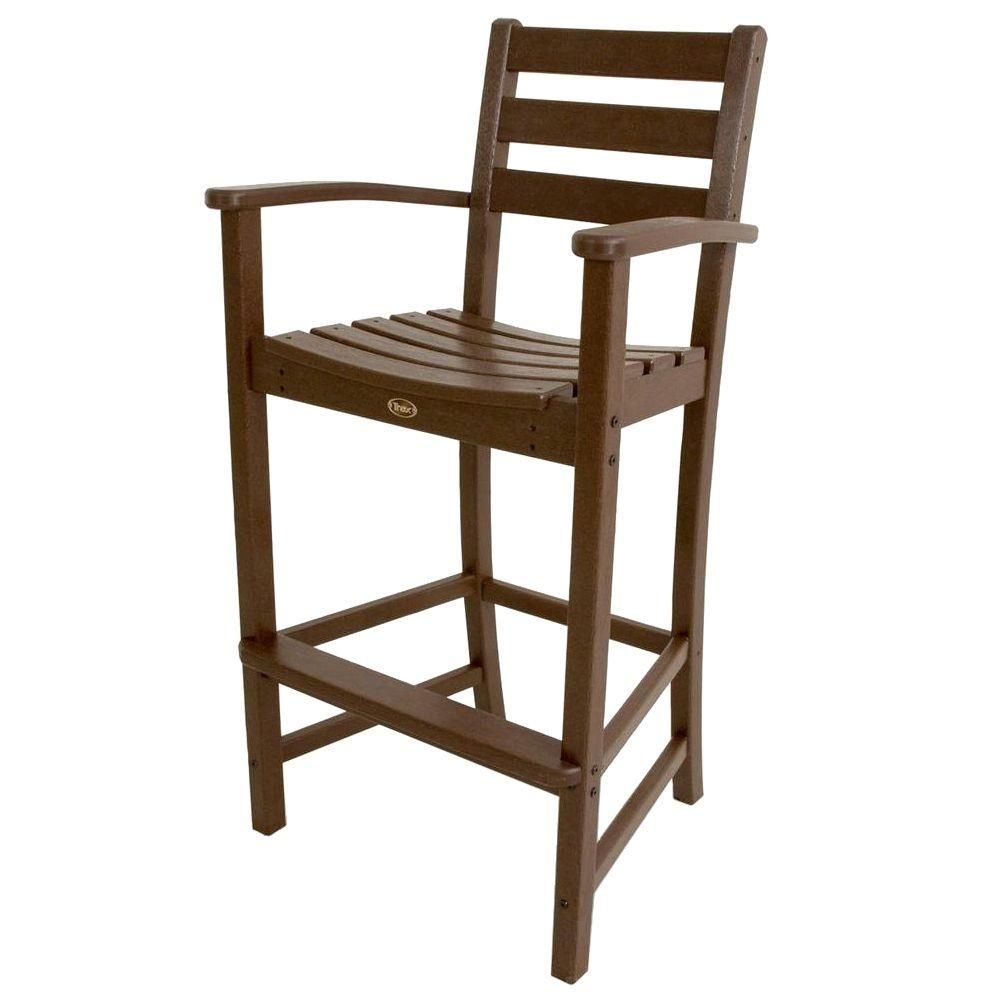 Elegant Trex Outdoor Furniture Monterey Bay Vintage Lantern Plastic Outdoor Patio  Bar Arm Chair