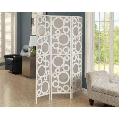 5.92 ft. White 3-Panel Room Divider