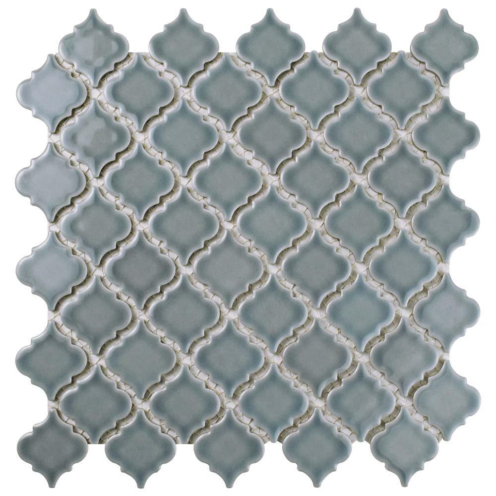 Hudson Tangier Slate 12-3/8 in. x 12-1/2 in. x 5 mm Porcelain Mosaic Tile