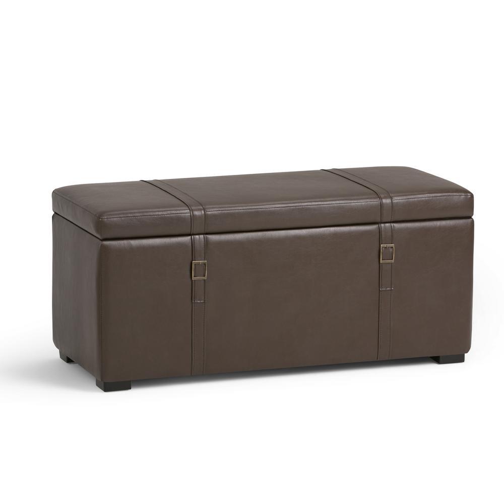 Dorchester 5-Piece Chocolate Brown Storage Ottoman Bench