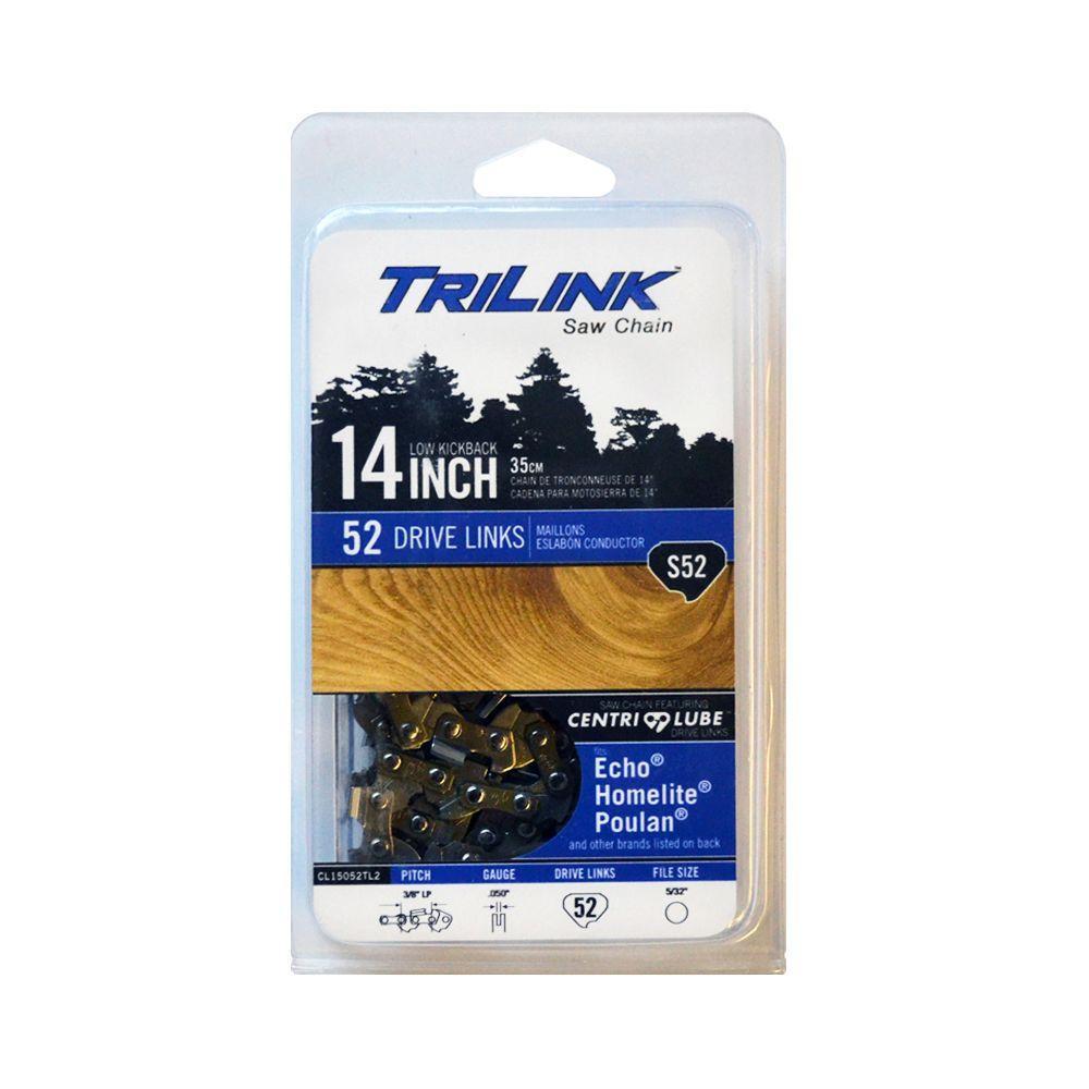 Trilink 14 in s52 semi chisel chainsaw chain cl15052tl2 the s52 semi chisel chainsaw chain keyboard keysfo Images