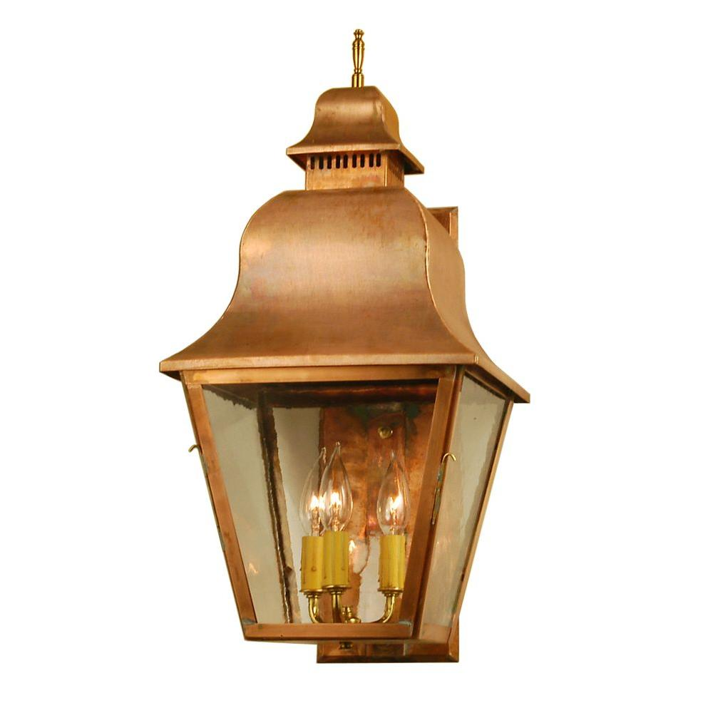 Illumine 3 Light Revere Wall Sconce Raw Copper Finish