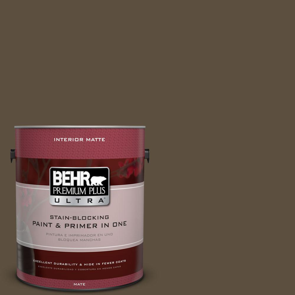 BEHR Premium Plus Ultra 1 gal. #S-H-720 Volcanic Island Flat/Matte Interior Paint