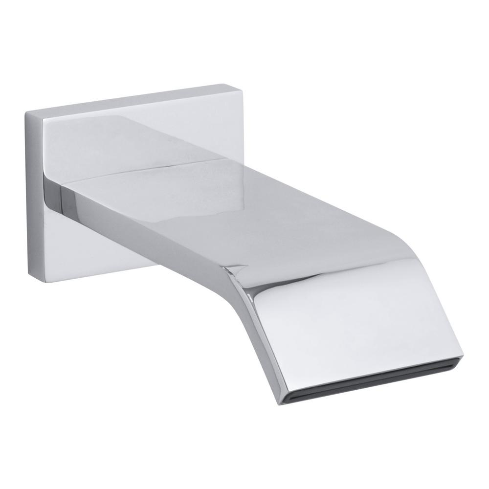 KOHLER Loure Wall-Mount Bath Spout in Polished Chrome