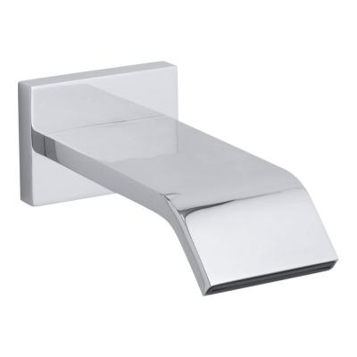 Loure Wall-Mount Bath Spout in Polished Chrome