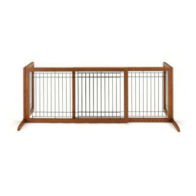 20.1 in. x 71.3 in. Large Wood Freestanding Pet Gate