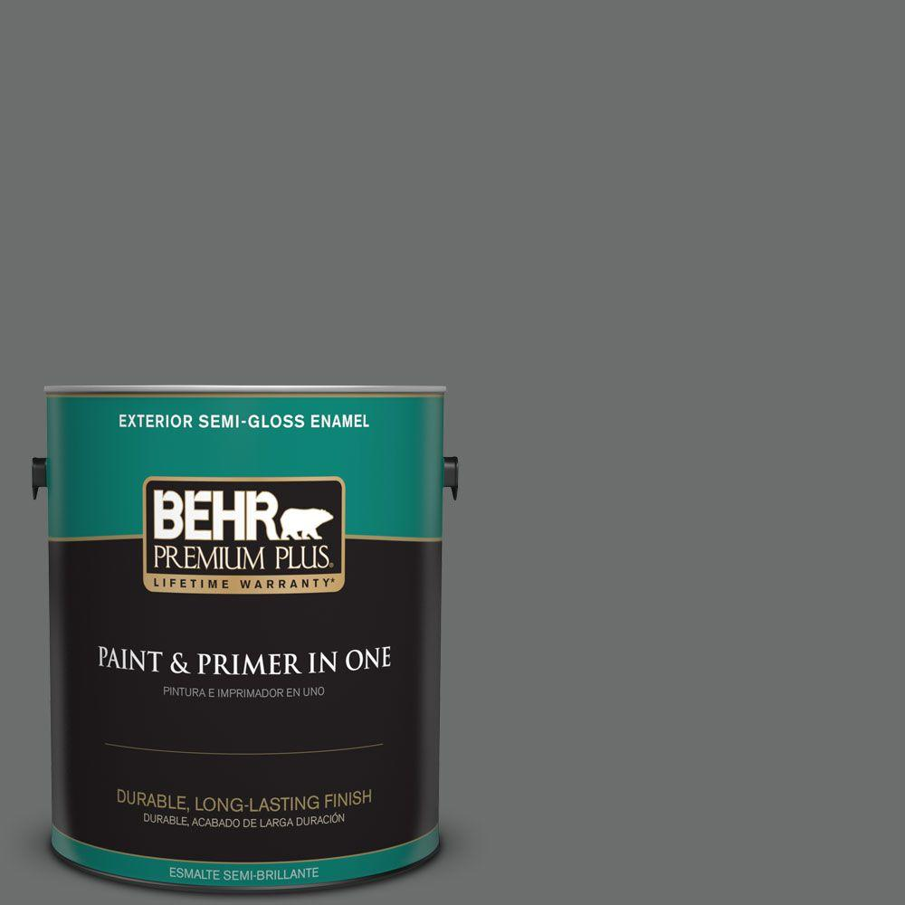1 gal. #HDC-AC-17A Welded Iron Semi-Gloss Enamel Exterior Paint