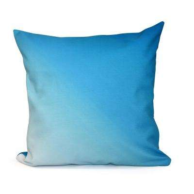 16 in. x 16 in. Ombre Decorative Pillow in Peacock