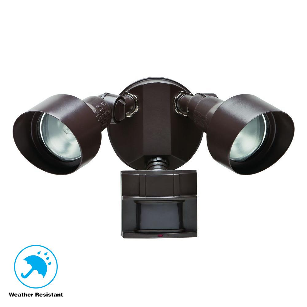 Defiant 110 Degree Bronze Motion Outdoor Security Light Df