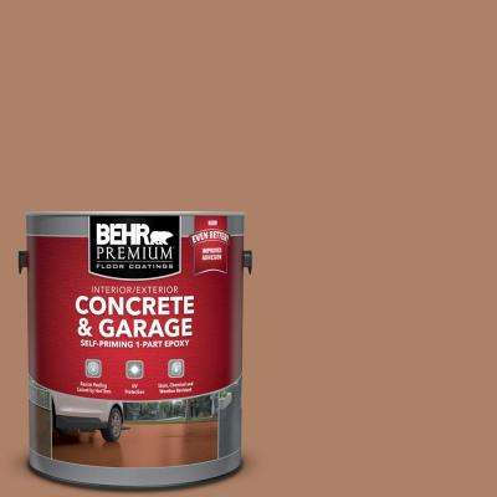 1 gal. #S210-5 Cider Spice Self-Priming 1-Part Epoxy Interior/Exterior Concrete and Garage Floor Paint