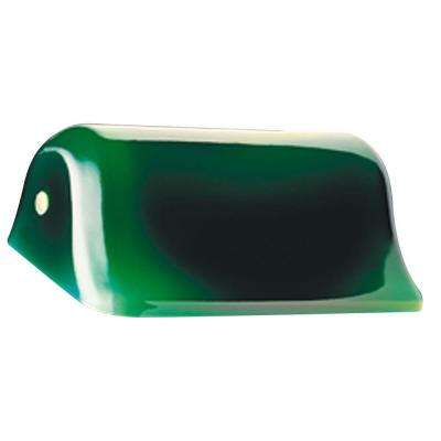 3-1/4 in. Handblown Green with White Interior Shade with 5-1/8 in. D and 8-5/8 in. W
