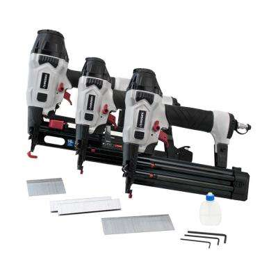 Finish Kit with 16-Gauge Finish Nailer, 18-Gauge Brad Nailer and 18-Gauge Stapler (3-Piece)