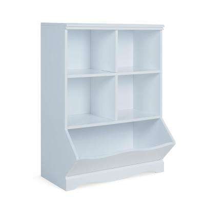 Multi-Bin White MDF Storage Cubby Unit