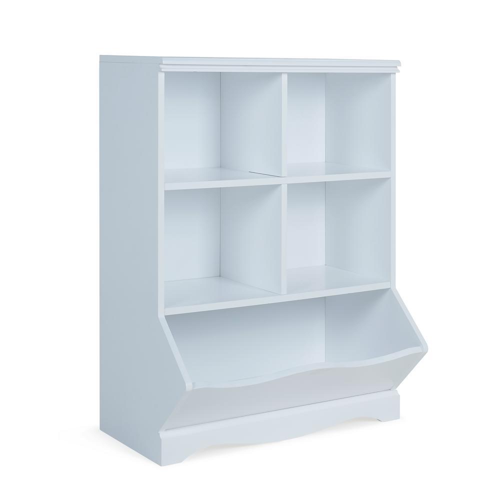 Multi-Bin White MDF Storage Cubby Unit