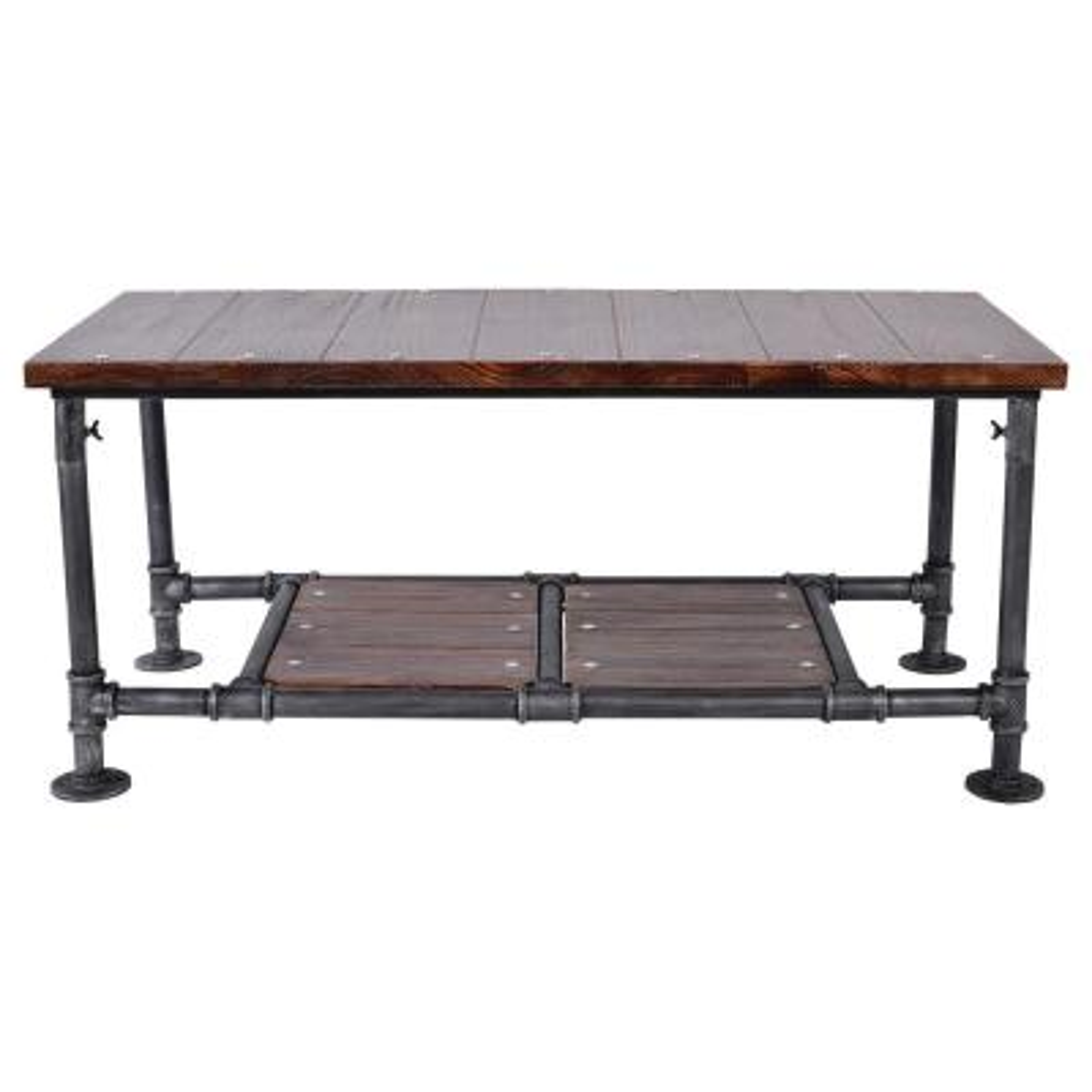 Winslow Rustic Pine Wood Coffee Table
