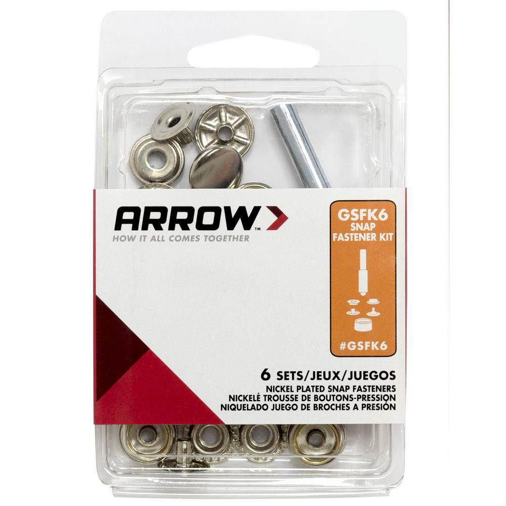 Arrow Fastener Snap Fastener Kit (6-Sets)-GSFK6 - The Home Depot