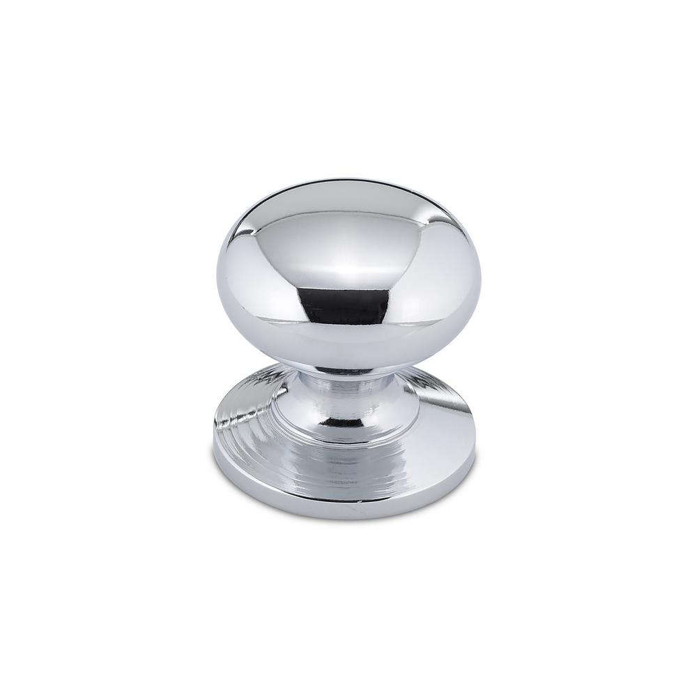 richelieu hardware 1 1 4 in chrome cabinet knob bp39313140 the home depot. Black Bedroom Furniture Sets. Home Design Ideas
