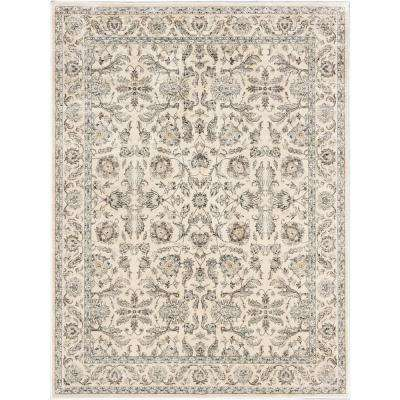 Prescilla Cream 8 ft. x 10 ft. Area Rug