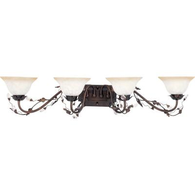 Elegante 4-Light Oil-Rubbed Bronze Bath Vanity Light
