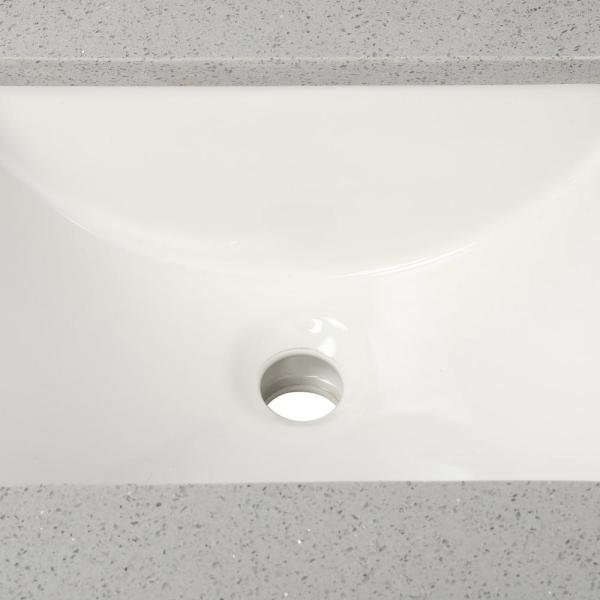 Home Decorators Collection 25 In W X 22 In D Engineered Quartz Vanity Top In Sterling Grey With White Single Trough Sink 25112 The Home Depot