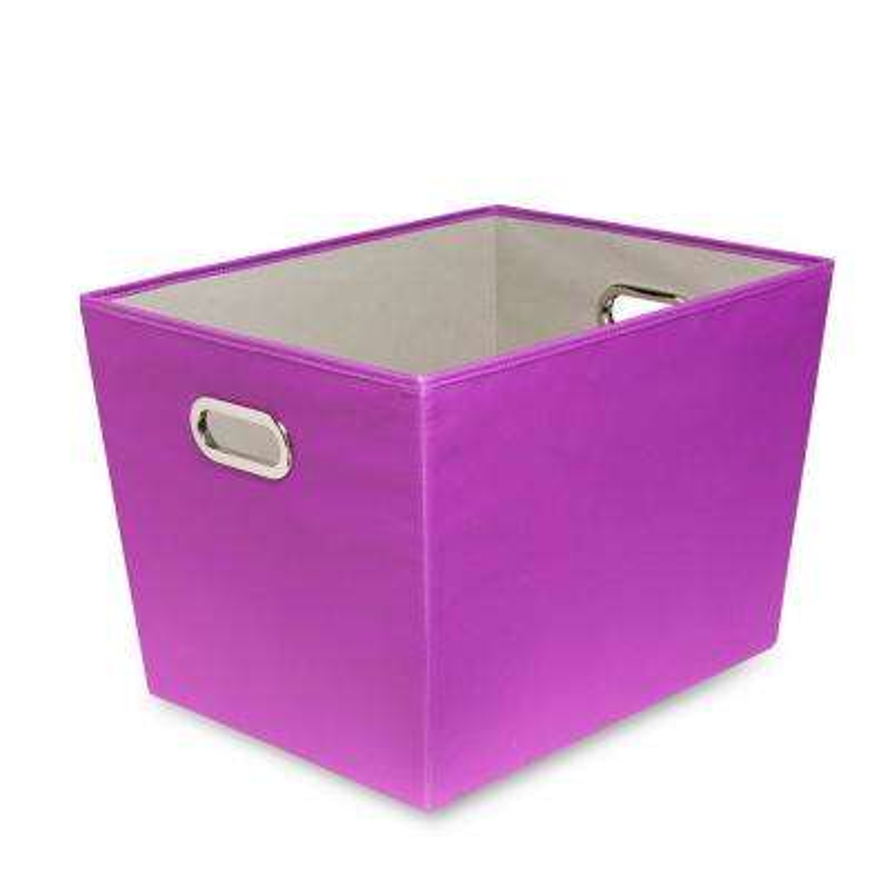 60 Qt. Purple with Copper Handles Canvas Tote  sc 1 st  The Home Depot & Fabric - Storage Bins u0026 Totes - Storage u0026 Organization - The Home Depot