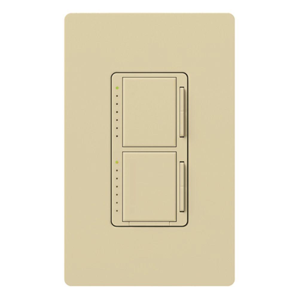 Maestro 300-Watt Single-Pole Dual Digital Dimmer - Ivory
