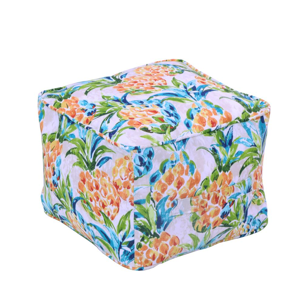 Fine Hampton Bay Pineapples Square Outdoor Pouf Squirreltailoven Fun Painted Chair Ideas Images Squirreltailovenorg