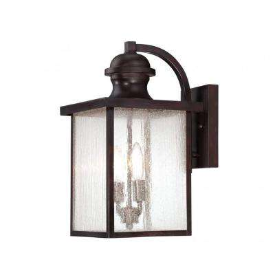 Monti 2-Light English Bronze Outdoor Wall Mount Lantern
