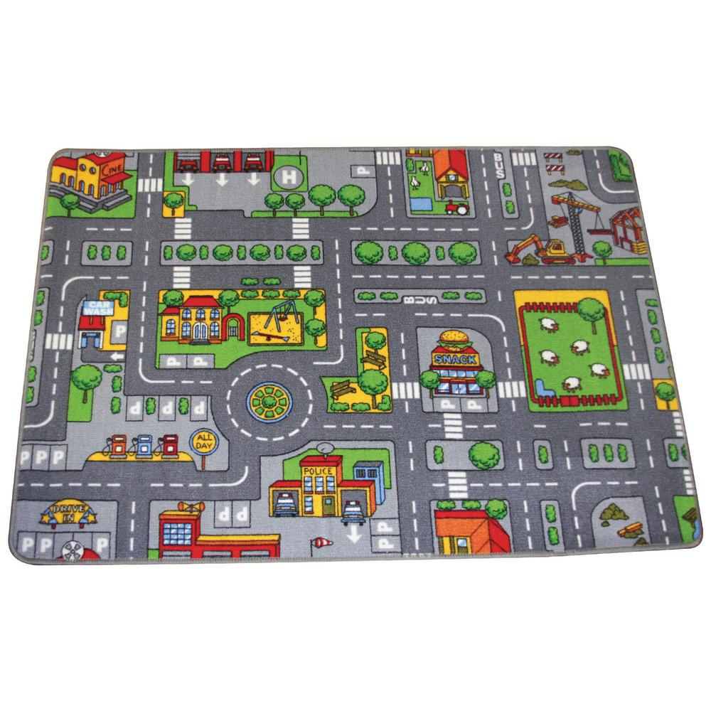 Big City Drive And Play 53 In. X 38 In. Playmat-EDIT22909