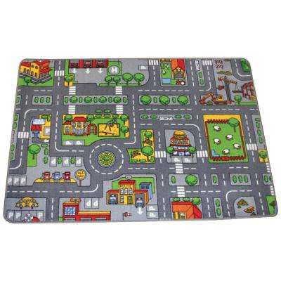 Big City Drive and Play 53 in. x 38 in. Playmat