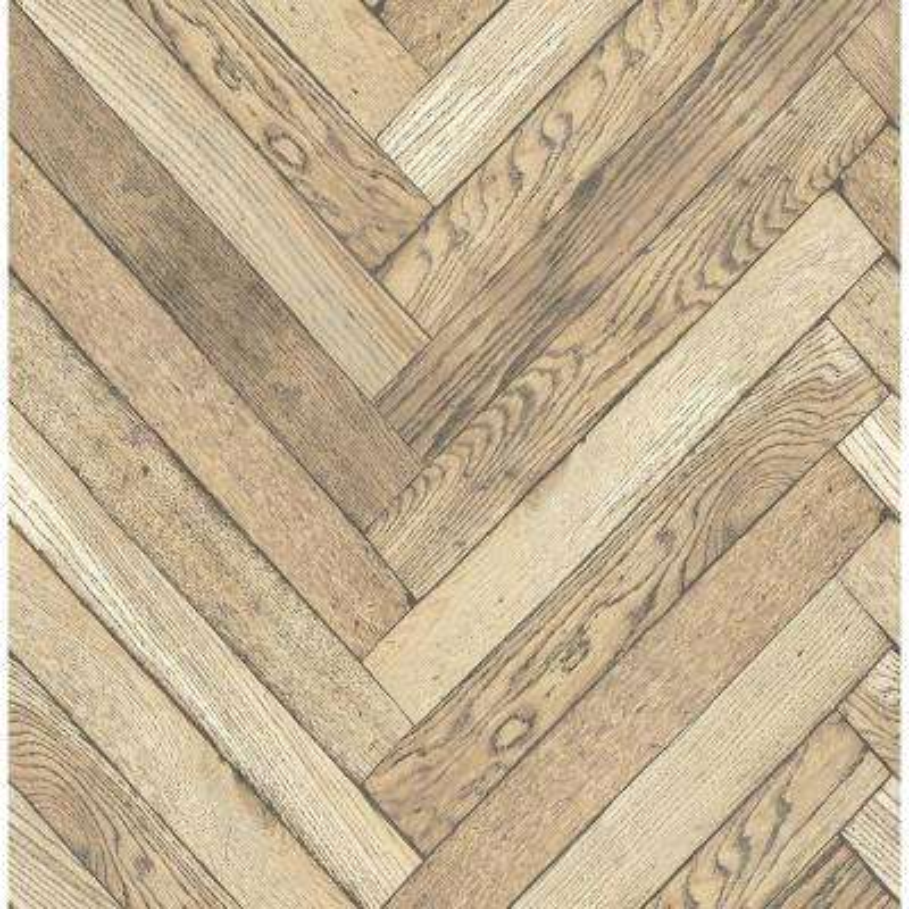 Altadena Light Brown Diagonal Wood Wallpaper