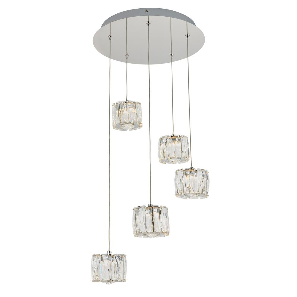 Artika Glaceo 16-Watt Integrated LED Chrome 5-Light Pendant was $179.0 now $99.97 (44.0% off)