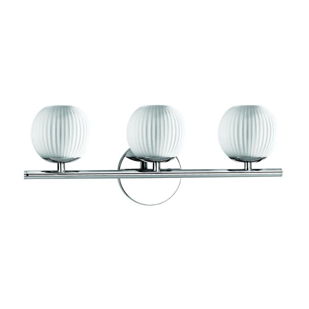 Eurofase Orvino Collection 3-Light Chrome Wall Bath Bar Light