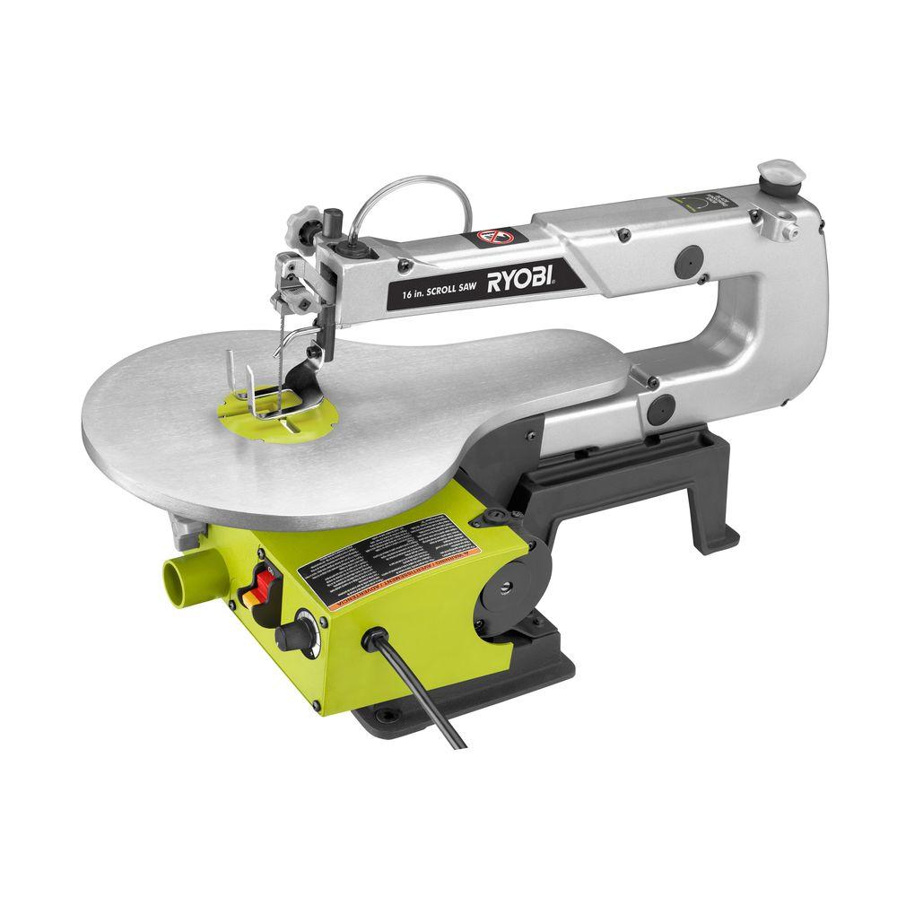 Ryobi 1 2 Amp 16 In Corded Scroll Saw Sc165vs The Home