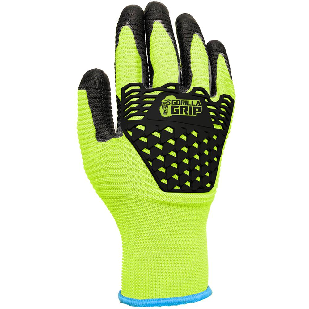 Gorilla Grip GORILLA GRIP Max Impact X-Large Gloves with Touchscreen, Adult Unisex, Yellow